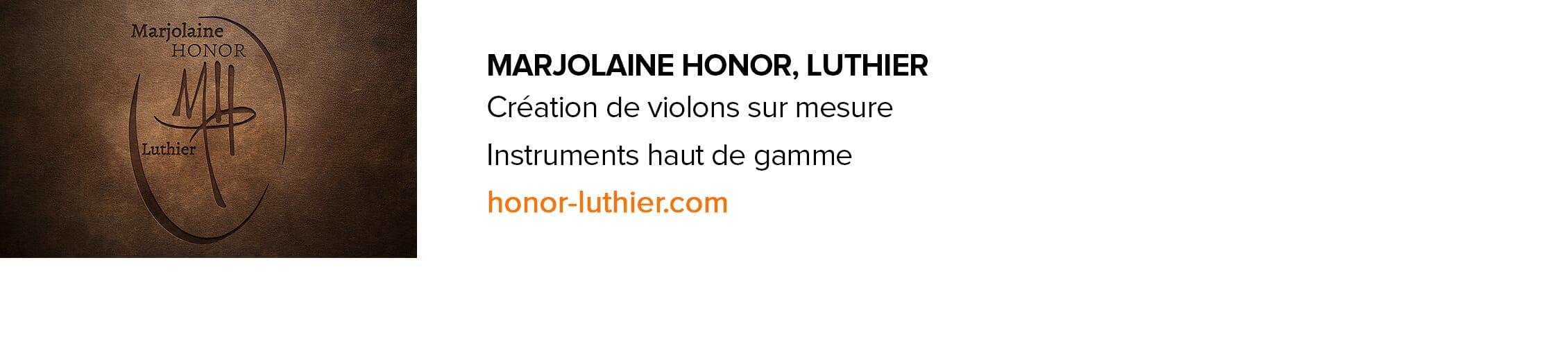 Marjolaine Honor luthier violon Montréal Longueuil