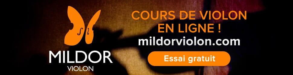 Cours de violon en ligne Mildor Violon Bill Board