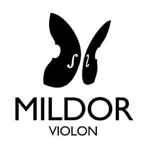 Logo Mildor Violon cours de violon en ligne Noir Noir Fond Blanc