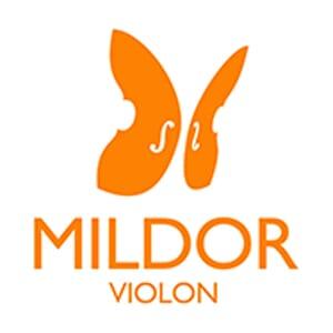 Logo Mildor Violon cours de violon en ligne Orange Orange Fond Blanc